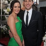 Emily Blunt and John Krasinski at the SAGs.