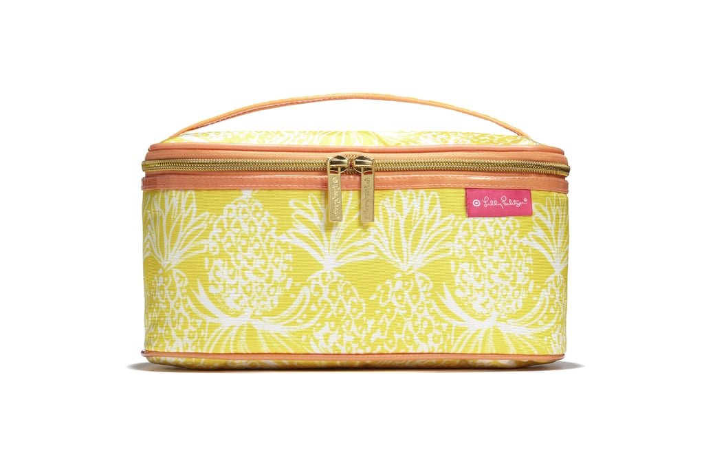 Double Zip Train Case in Pineapple Punch ($24)