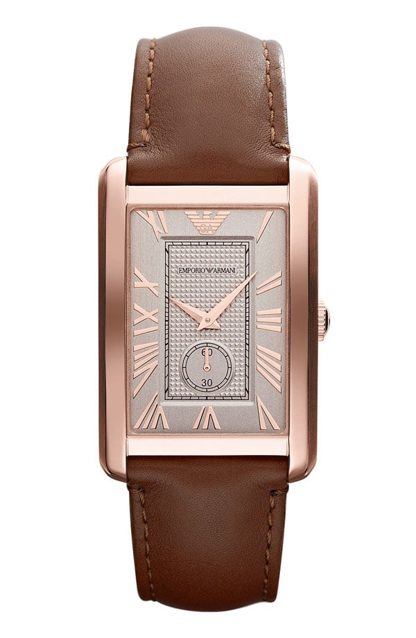 Emporio Armani Rectangular Face Watch ($245)