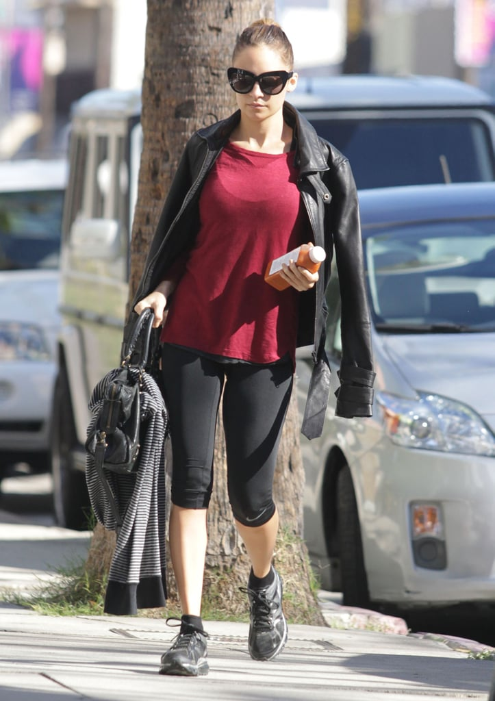 Nicole Richie hit the gym solo.