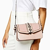 Topshop Casey Pink Chain Cross Body Bag