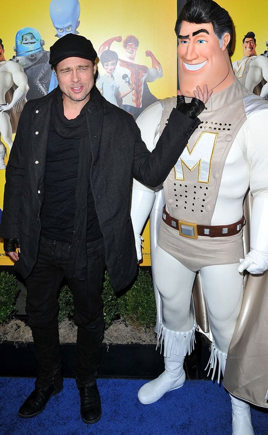 Pictures of Brad Pitt at the Megamind Premiere in NYC