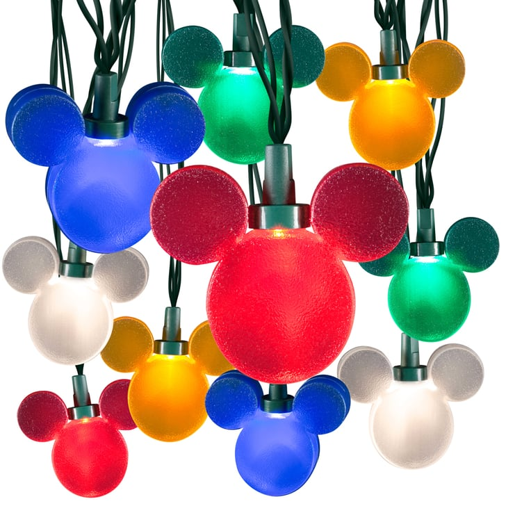 Color Whirl Mickey Light String (USD 40) Disney Christmas Lights POPSUGAR Home Photo 7