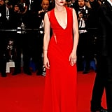 Kristen Stewart wore an unforgettable red gown at the Cannes Film Festival in 2012 for the premiere of Cosmopolis.