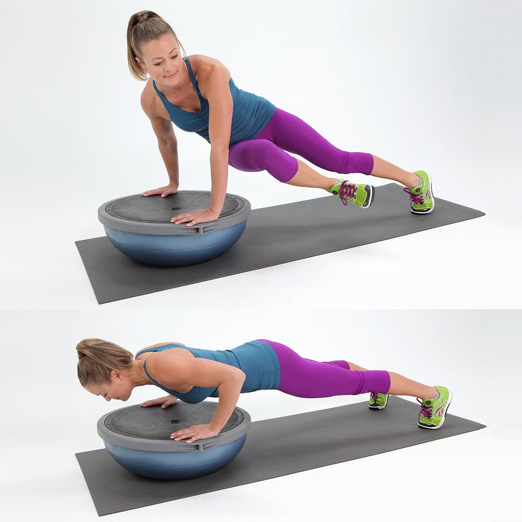 Bosu Ball Push Ups: Halle Berry Push-Up Variations
