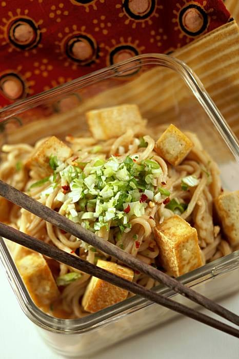 Sesame Noodles With Crunchy Tofu