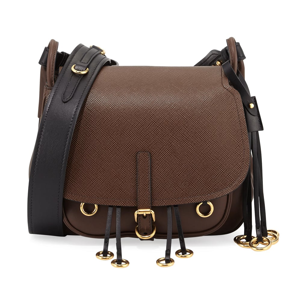 6d53a036ec Prada Leather Hunting Shoulder Bag