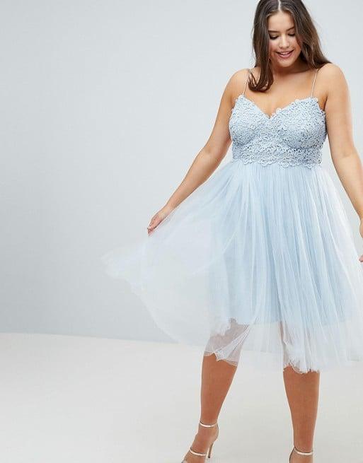 13b4c2cd5c13 ASOS Design Curve Premium Lace Cami Top Tulle Midi Dress
