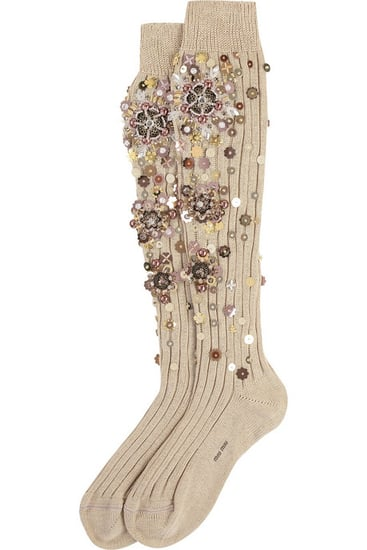 Embellished Socks at Miu Miu