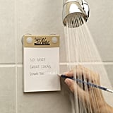 You Can Adhere the Pad to Your Shower Wall . . .