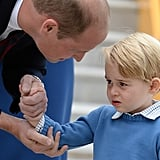 William came to the rescue to cure George's case of the blues.