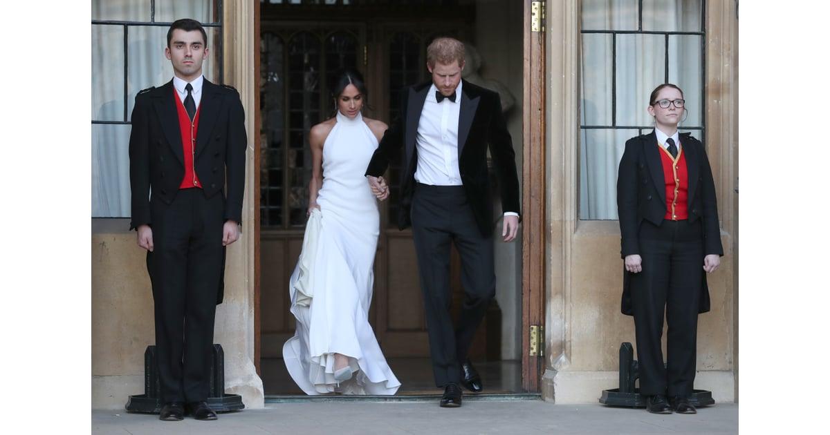 Meghan Markle Second Wedding Dress Popsugar Fashion