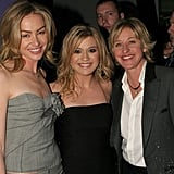 Music fans Ellen DeGeneres and Portia de Rossi snapped a photo with mega singing sensation Kelly Clarkson in 2006.
