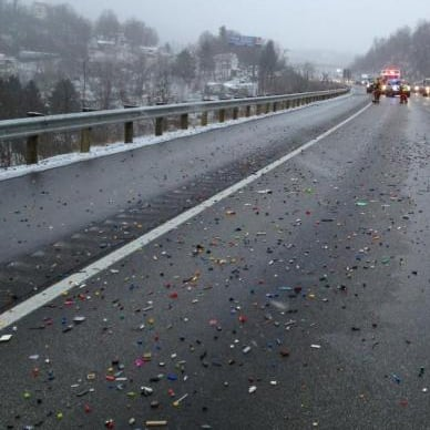 LEGO Spill Shuts Down Highway in West Virginia