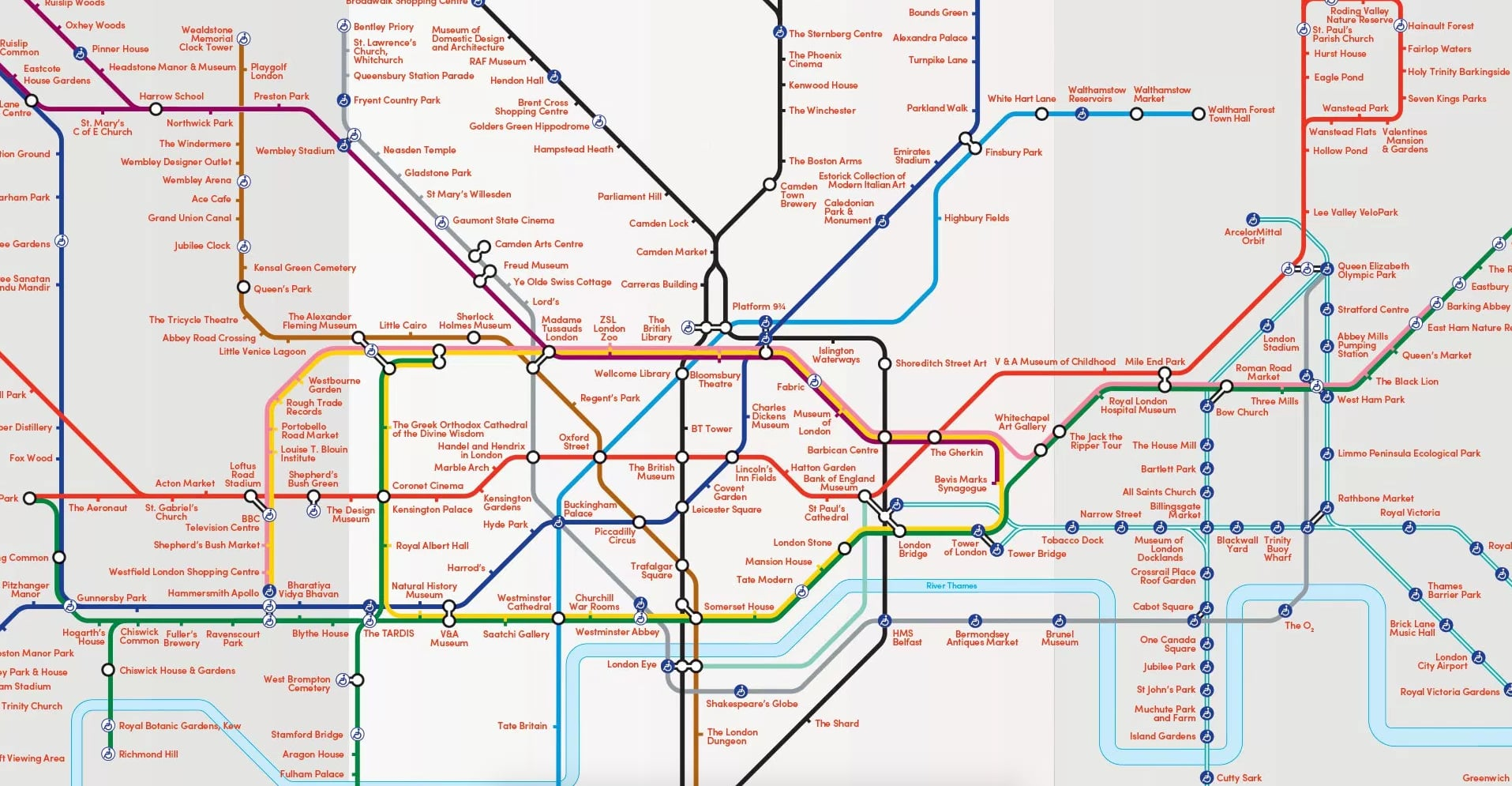 London Map Attractions.London Map Of Tourist Attractions Popsugar Smart Living Uk