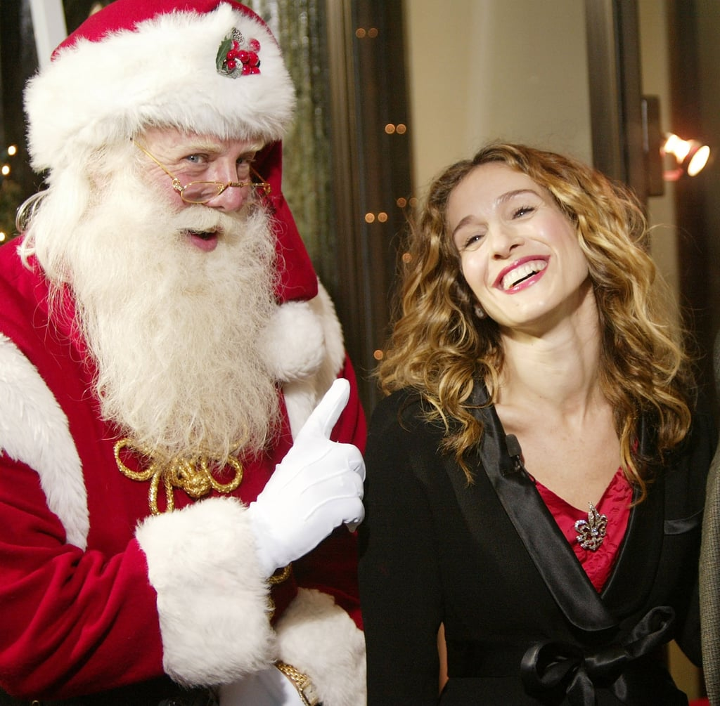 Sarah Jessica Parker | Celebrity Christmas Photos in the Early 2000s ...