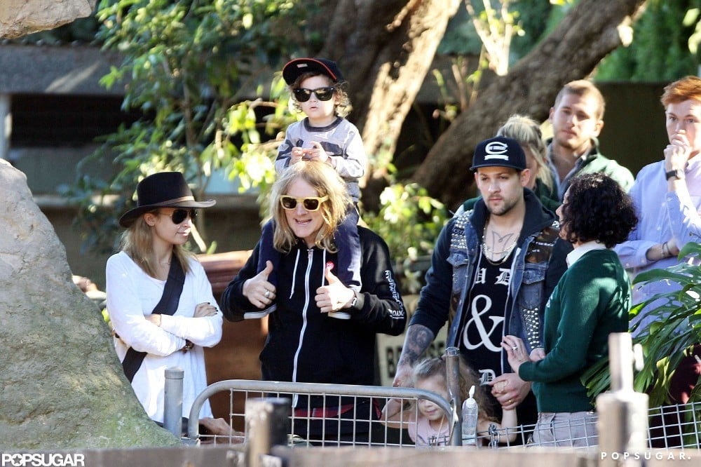 In May 2012, Nicole Richie and Joel Madden hit the zoo in Sydney with their children, Harlow and Sparrow Madden.