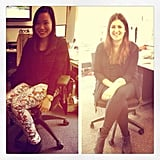 Fashion Friday! PopSugar Editor Jess wore Country Road and ASOS, and new Associate Editor Gen wore... Country Road and ASOS. Snap!