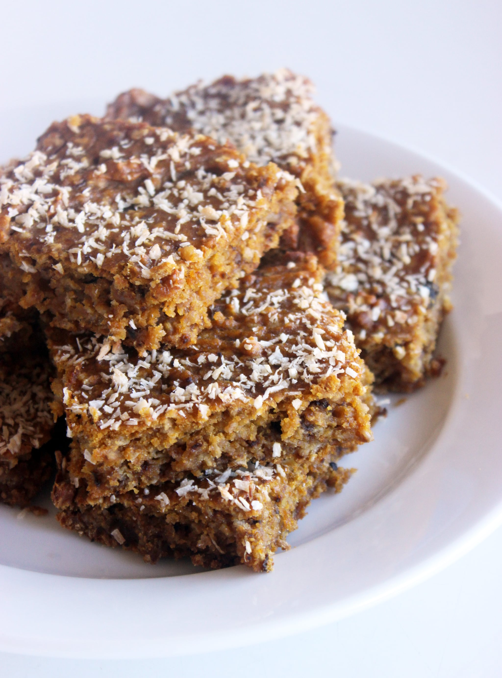 Get Psyched For Autumn With These Pumpkin Coconut Oatmeal Bars
