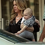 Christina Applegate put her daughter in a leopard-print shirt.