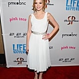 Dreama Walker posed at the premiere of Life Happens in Century City.