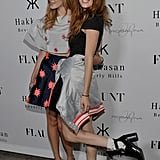 Sisters Bella and Dani Thorne posed for pictures together.