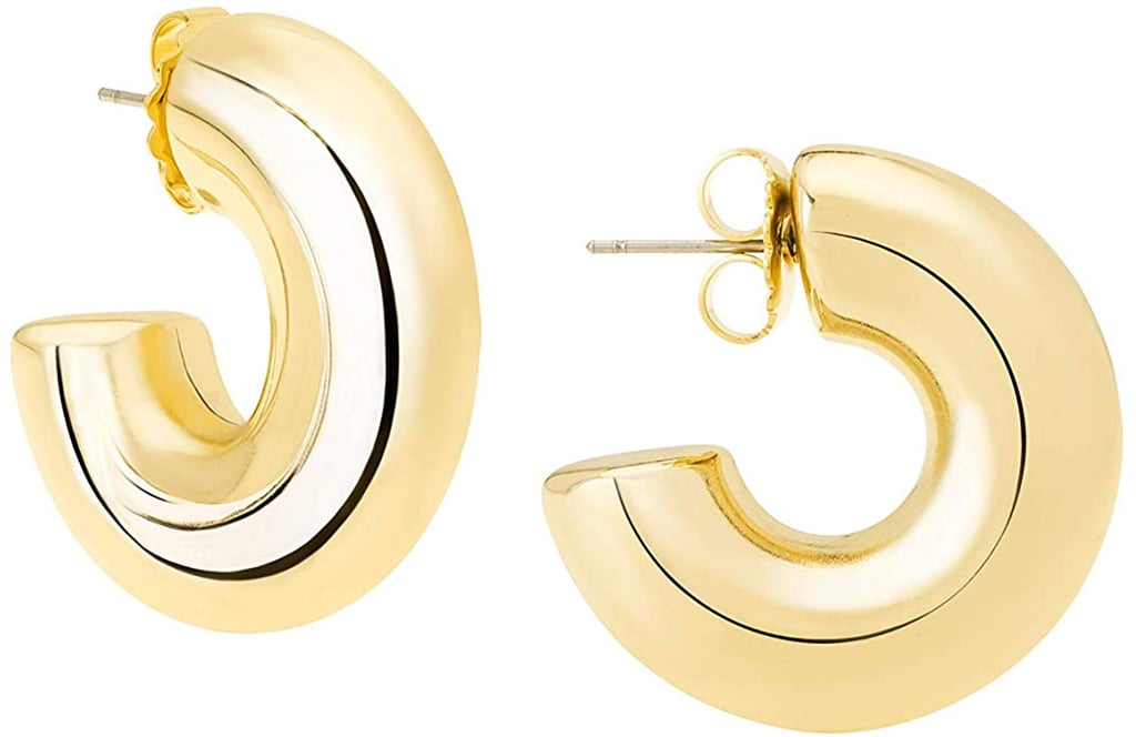 Janis by Janis Savitt High-Polished 18k Yellow-Gold Plated Small Hoop Earrings