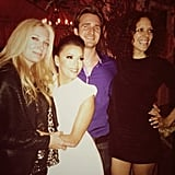 Eva Longoria partied with her Ready For Love cohosts. Source: Eva Longoria on WhoSay