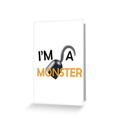 """""""I'm A Monster"""" Greeting Cards ($3)"""