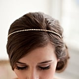 For a truly minimalistic touch, a handmade crystal rhinestone bridal headband ($60) is simple but elegant.