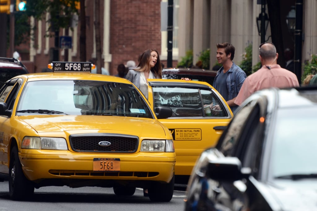 Amber Heard and Liam Hemsworth were on the set of Paranoia in Philadelphia.