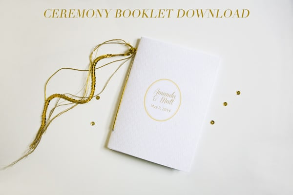 Gold-Detailed Ceremony Booklet