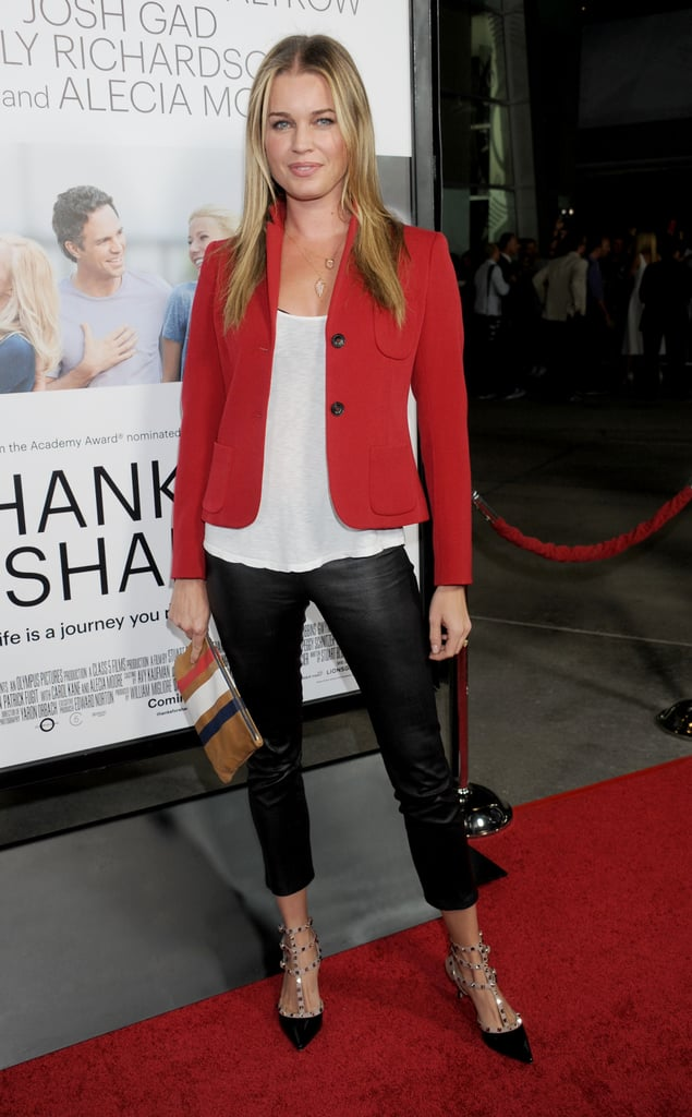 Rebecca Romijn wore leather pants.