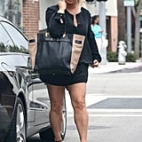 Jessica Simpson showed off her toned legs.