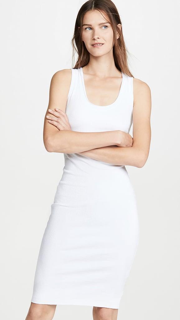 Enza Costa Rib Scoop Tank Midi Dress