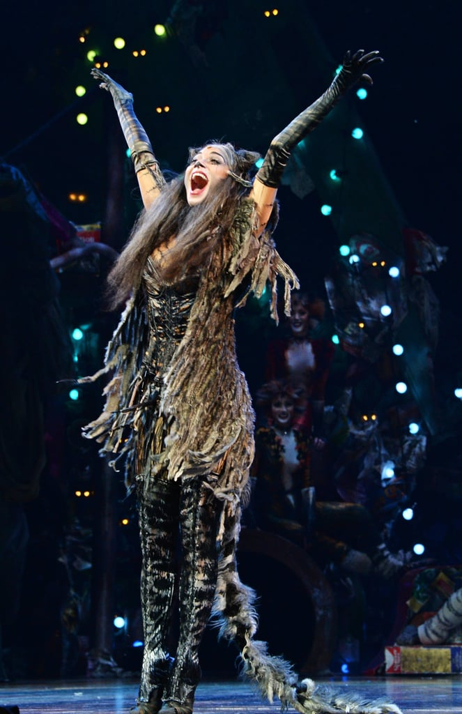 Nicole Scherzinger mastered her first performance as a member of the cast of Cats.