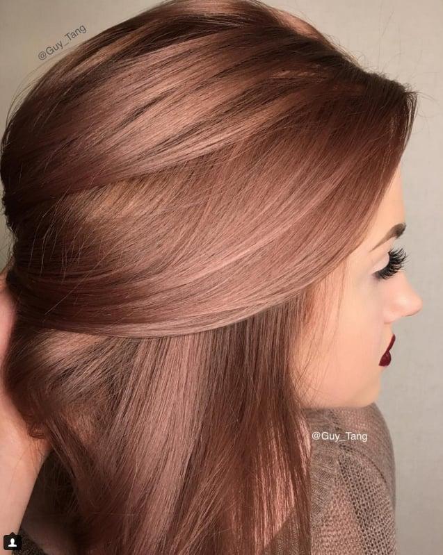 Rose Gold Hair Colour Inspiration | POPSUGAR Beauty Australia