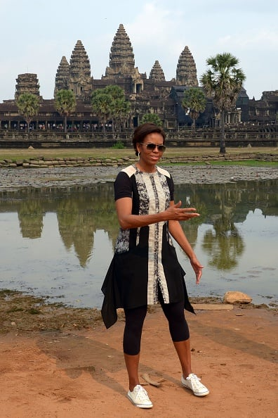 When She Took a Trip to the Angkor Wat Temple in Cambodia