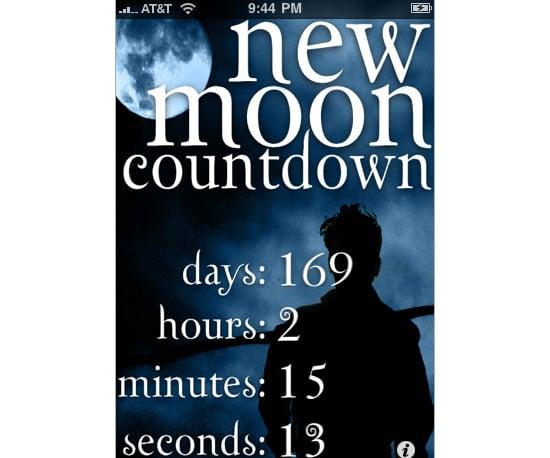 New Moon Countdown App