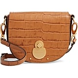 Longchamp Small Cavalcade Crocodile Embossed Leather Crossbody Bag