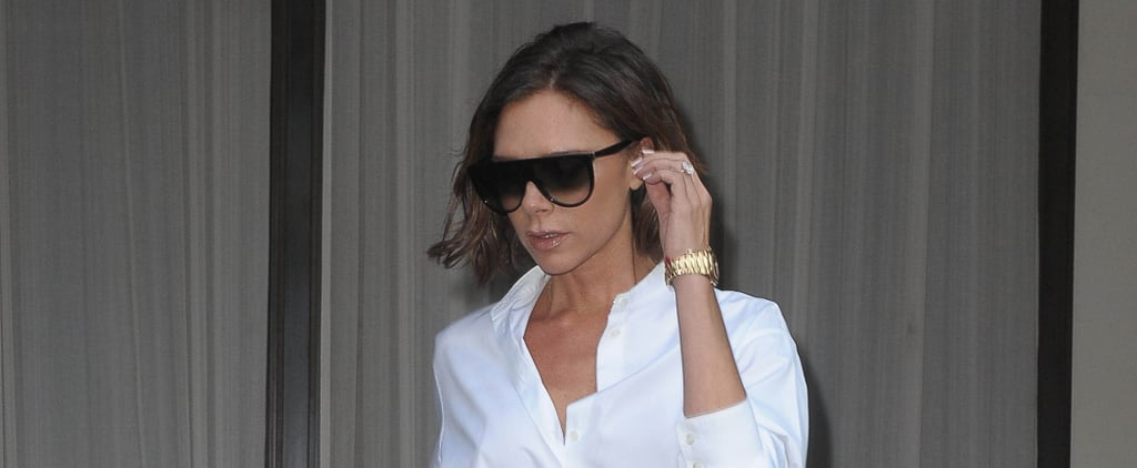 Victoria Beckham Wore These Amazing Lavender Heels Right Off the Runway