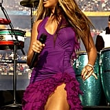 Beyoncé shook it on stage with Santana in 2003.