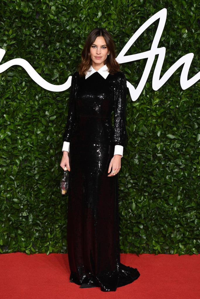 Alexa Chung at the British Fashion Awards 2019