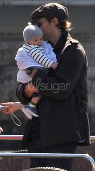 Pictures of Tom Brady and Gisele Bundchen With Baby Ben on the Seine