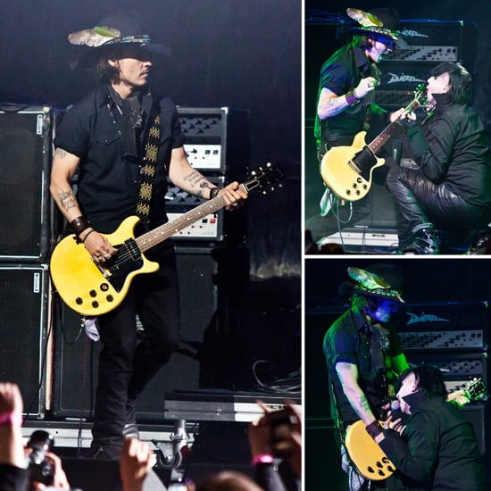 Johnny Depp Pictures Performing With Marilyn Manson