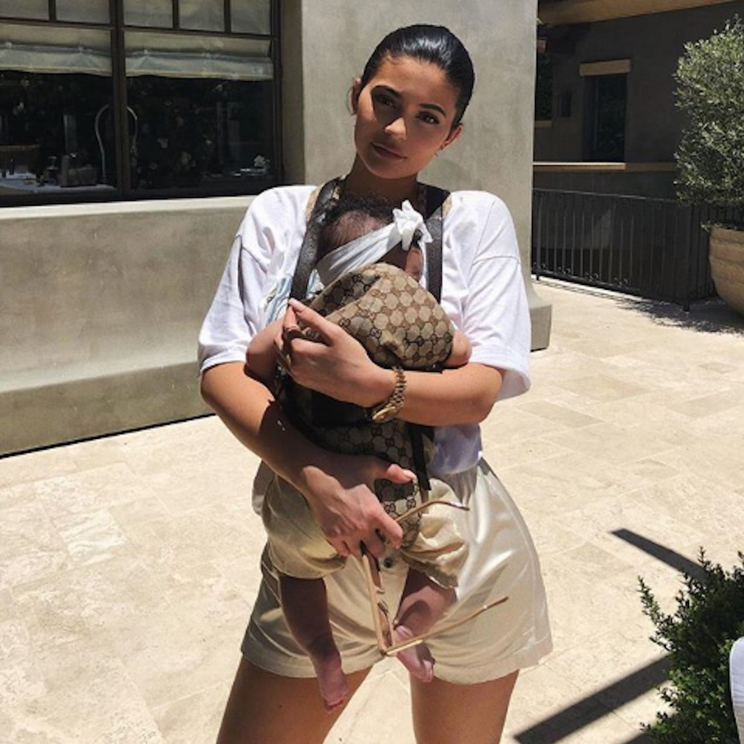 969b5111349 Kylie Jenner s Gucci Baby Carrier