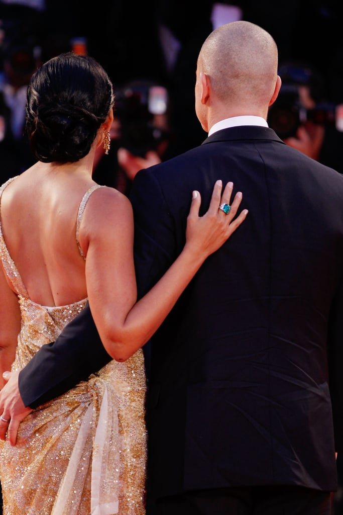 Matt Damon Has Lovely Luciana by His Side on the Contagion Red Carpet in Venice