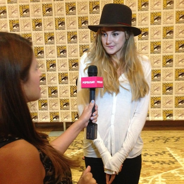 Shailene Woodley greeted us with a hug and a smile at Comic-Con.