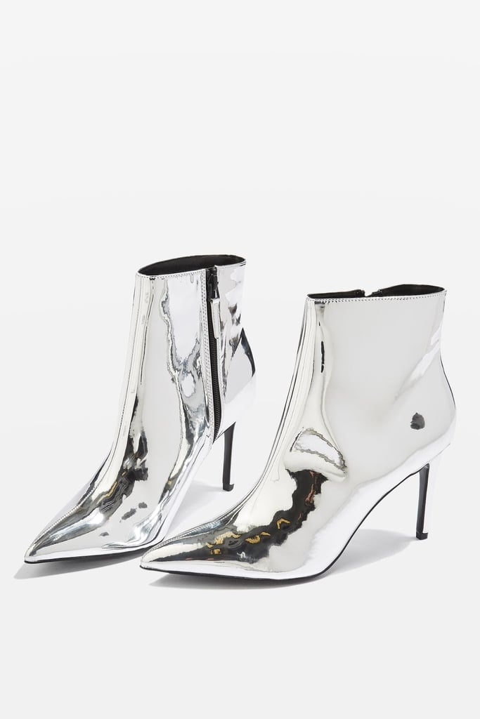 All eyes will be glued to your feet when you wear Topshop's metallic ankle boots ($125). Rock them with a dress or jeans.