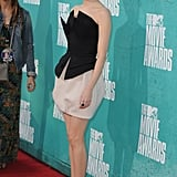 Emma Stone posed on the red carpet of the MTV Movie Awards.